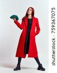 fashionable woman  studio | Shutterstock . vector #759367075