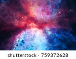 3d Rendering.colorful Galaxy In ...
