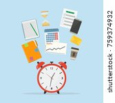 time management icon. concept... | Shutterstock .eps vector #759374932