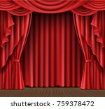 open red stage curtain... | Shutterstock .eps vector #759378472