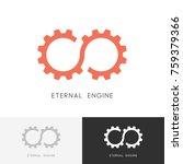 eternal engine logo   gear... | Shutterstock .eps vector #759379366