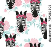 sketch seamless pattern with... | Shutterstock .eps vector #759383506