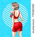 vector illustration of fitness... | Shutterstock .eps vector #759385585