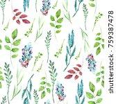watercolor seamless pattern ... | Shutterstock . vector #759387478