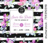 wedding invitation template... | Shutterstock .eps vector #759390598