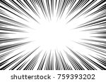 black and white radial lines... | Shutterstock .eps vector #759393202