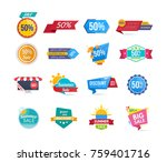 big set of design sale banners... | Shutterstock .eps vector #759401716