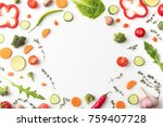 top view of circle of cut... | Shutterstock . vector #759407728