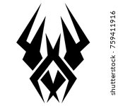 tattoo tribal vector design.... | Shutterstock .eps vector #759411916