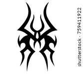 tattoo tribal vector design.... | Shutterstock .eps vector #759411922