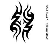 tribal pattern tattoo vector...   Shutterstock .eps vector #759411928