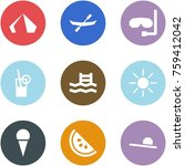 origami corner style icon set   ... | Shutterstock .eps vector #759412042