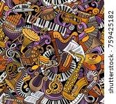 cartoon cute doodles classical... | Shutterstock .eps vector #759425182