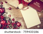 a letter to santa claus ... | Shutterstock . vector #759433186