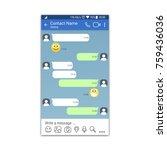 social network or messenger... | Shutterstock .eps vector #759436036