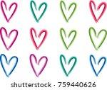 heart shape vector design set | Shutterstock .eps vector #759440626