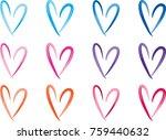 heart shape vector design set | Shutterstock .eps vector #759440632
