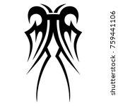 tattoo tribal vector design.... | Shutterstock .eps vector #759441106