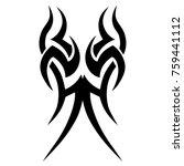 tattoo tribal vector design.... | Shutterstock .eps vector #759441112
