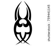 tattoo tribal vector design....   Shutterstock .eps vector #759441145