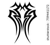 tattoo tribal vector designs.  | Shutterstock .eps vector #759441172