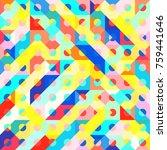 abstract 1980 memphis geometric ...   Shutterstock .eps vector #759441646