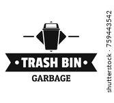 bin household logo. simple... | Shutterstock .eps vector #759443542