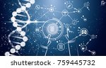 medicine and science background ... | Shutterstock .eps vector #759445732