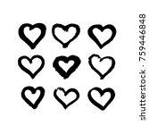 grunge hearts hand drawn. | Shutterstock .eps vector #759446848