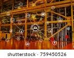 industry 4.0 concept image.... | Shutterstock . vector #759450526