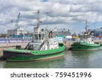 editorial use only  tug boats... | Shutterstock . vector #759451996