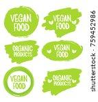 vegan food. stamp. sticker | Shutterstock .eps vector #759452986