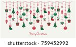 merry christmas greeting card... | Shutterstock .eps vector #759452992
