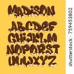 chocolate melting typeset ... | Shutterstock .eps vector #759453802
