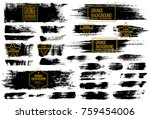 set of black ink vector stains | Shutterstock .eps vector #759454006