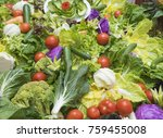 selection display of salad food ... | Shutterstock . vector #759455008
