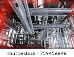 equipment  cables and piping as ... | Shutterstock . vector #759456646