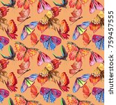 exotic  butterfly wild insect... | Shutterstock . vector #759457555