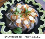 thai food  shrimp in fish sauce ... | Shutterstock . vector #759463162