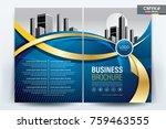 vector brochure layout  flyers... | Shutterstock .eps vector #759463555