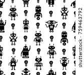 funny pattern with robots.