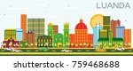 luanda angola skyline with...   Shutterstock .eps vector #759468688