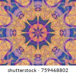 beautiful kaleidoscope... | Shutterstock . vector #759468802