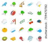 vital icons set. isometric set... | Shutterstock .eps vector #759470782