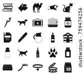 vet icons set. simple set of 25 ... | Shutterstock .eps vector #759474256