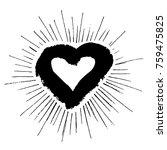 grunge heart hand drawn | Shutterstock .eps vector #759475825