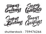 vector illustration  set of... | Shutterstock .eps vector #759476266