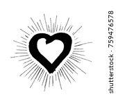 grunge heart hand drawn | Shutterstock .eps vector #759476578