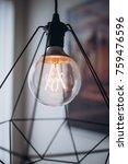 close up modern tungsten lamp.... | Shutterstock . vector #759476596