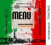 italian menu vector template ... | Shutterstock .eps vector #75947842